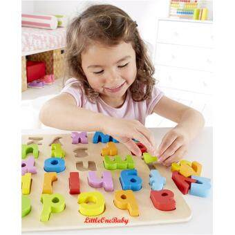 Harga 26pcs Wooden abc Lowercase Early Learning Toy / ALPHABET PUZZLE /Preschool Learning Educational Toy Gift BEST SELLER!