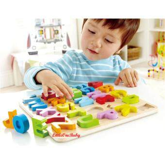 Harga 26pcs Wooden ABC Uppercase Early Learning Toy / ALPHABET PUZZLE /Preschool Learning Educational Toy Gift BEST SELLER!