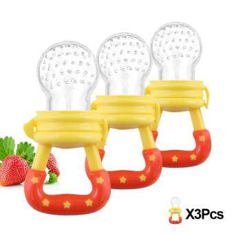 Harga 3 Pcs Baby Pacifier Fruits And Vegetables Nipple Yellow (Intl)