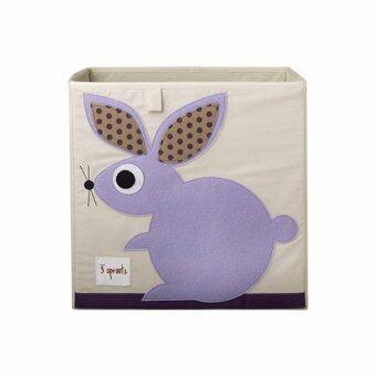 3 Sprouts Storage Toy Organizer Bin Series C D3 Rabbit