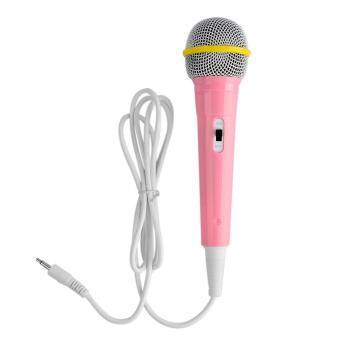 360DSC Children Wired Microphone Mic Karaoke Singing Kid Funny Gift Music Toy - Pink