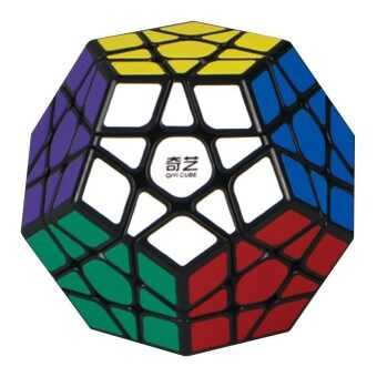 Harga 3x3 Megaminx Magic Cube Stickerless Dodecahedron Speed Cubes BrainTeaser Twist Puzzle Toy Style:Black bottom