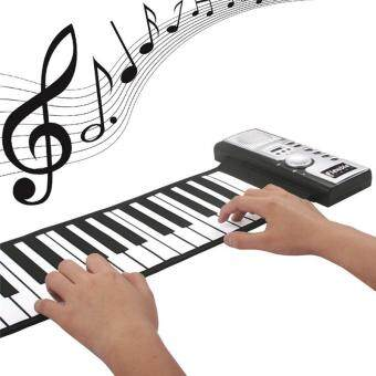 61 Keys Silicone Piano Flexible Roll-Up Piano Roll Up Piano MIDIElectronic Keyboard Hand Roll Piano Portable