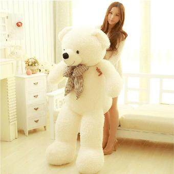 Harga 80CM Giant Big Cute Plush Stuffed Teddy White Bear Huge Soft 100%Cotton Toy Best Gift