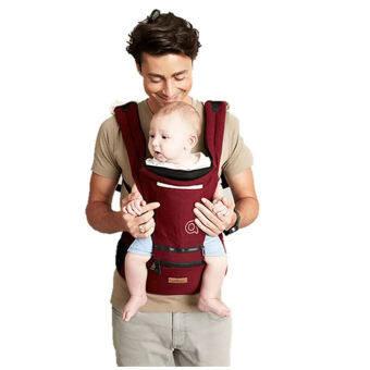 AIEBAO Baby Carrier Waist Belt Hipseat Red - 2