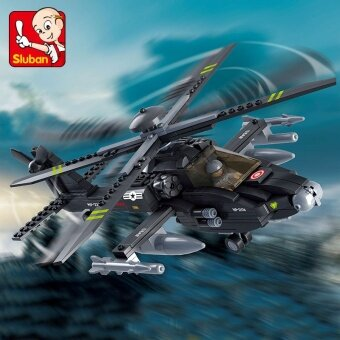Air Force 293pcs Forces Armed Helicopter small Luban building blocks