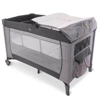 Harga Alpha Living Portable Child Baby Travel Cot Bed Baby Bed Kids Foldable Playpen Baby Crib (Grey)