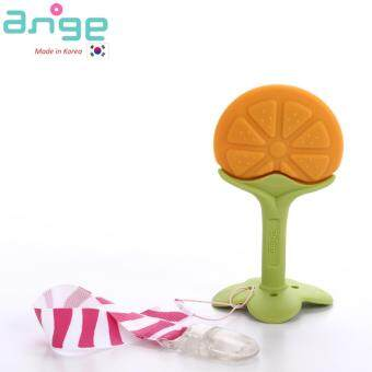 ANGE Baby Fruit Teether with Clip (Orange)