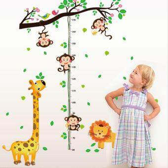 sell animals tree branch height measurement wall sticker