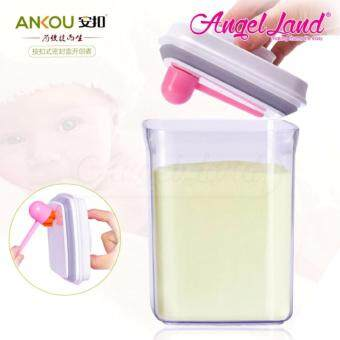Harga Ankou Airtight 1 Touch Button Container For Milk/Food/Herba Storage(1700ml/730g/Rectangle- AK-1700-BAC-B)