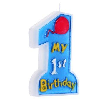 Anself My 1st Birthday Cake Candle Kids First One Anniversary PartyDecor Decoration Supply