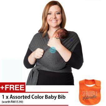 Harga BABY A Premium Classic Baby Sling Wrap Breathable Carrier-Grey