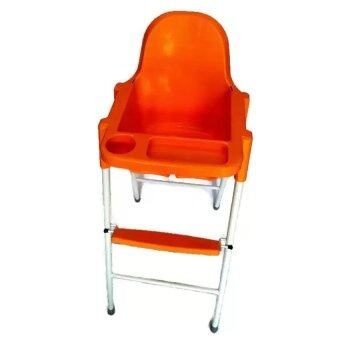 Harga Baby Local Premium Baby High Chair Orange Colour / Resturant InfantFeeding Baby High Chair