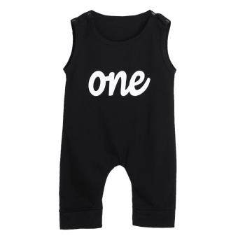 Harga Baby One Print Black Rompers Bodysuit Jumpsuit