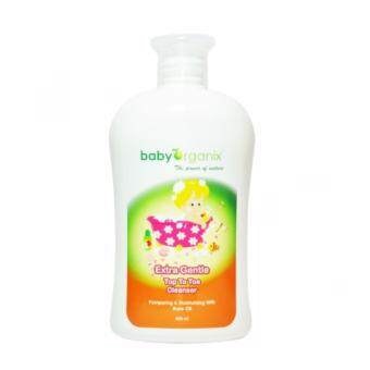 Harga BABY ORGANIX Extra Gentle Top to Toe Cleanser Rose Oil 400 ml