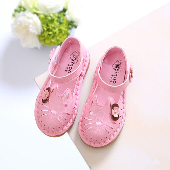 Baby Shoes girl sandals 2017 summer New style children's shoes girls hollow sandals cat princess shoes beach shoes