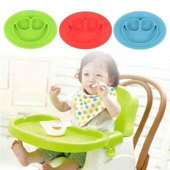 Baby Silicone Placemat Suction Plates One-Piece Feeding Dishes BowlOval Shape