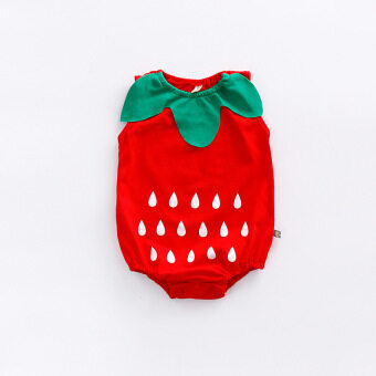 Baby sleeveless fruit style newborn children 12 a month romper