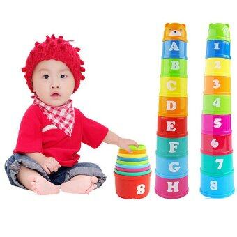Harga Baby Toy Children Kid Educational Figures Letters Numbers PlasticCup Tower