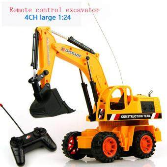 Harga Baby Toys 4Ch 1:24 Large Remote Control Engineering Truck ExcavatorCar Boy Toys Rc Car Electric Bulldozer Kids Toy Gifts