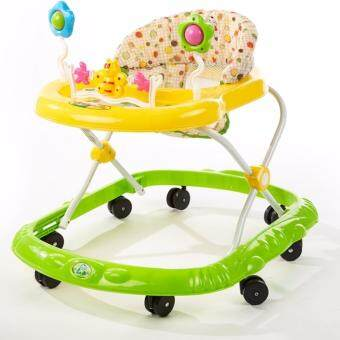 Harga Baby Walker With Music Ride-on Toy with Music and Bricks ChildrenActivity Foldable Adjustable Car (Green)