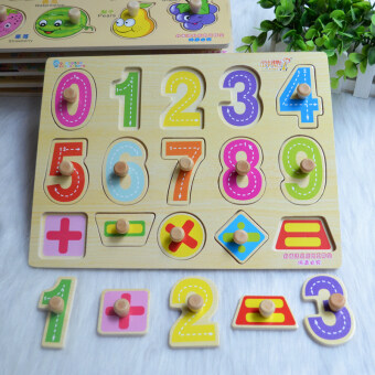 Baby wooden early childhood Yi Zhi cognitive toys hand scratch Board
