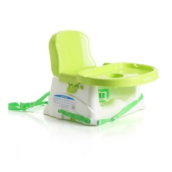 (Babyhood) Baby Booster Seat/ Portable Baby Dining Chair And Table   Green