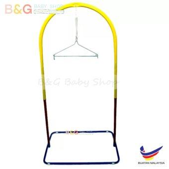 B&G Baby Local Premium Baby Safety Spring Cot Stand (Epoxy)Multi Colour Without Roller