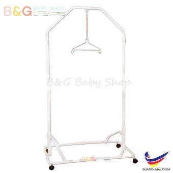 Harga B&G Baby Shop Local Premium Baby Safety Spring CotStand(Epoxy)Side Steel Bar Support -White