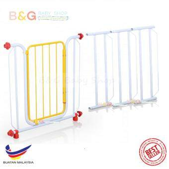 Harga B&G Baby Shop Safety Security Baby Gate Model 188 With 3 Extension Fit 82-144cm ( Random Colour)