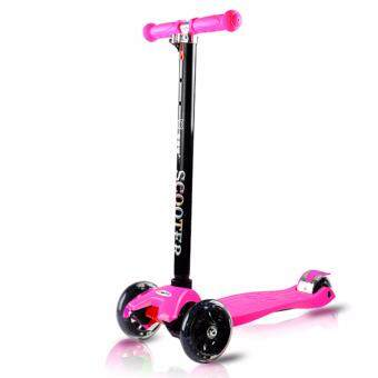 BEIQITONG [NB49] (STRONG DESIGN) Kids Scooter LED Light Wheels With Adjustable Handler Tricycle Scooter - Normal - 2