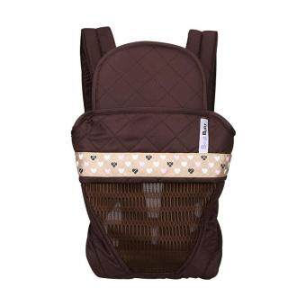 Harga BEST BABY Soft Structured Ergonomic Sling Baby Carrier Front andBack Baby Pack Bag - Coffee