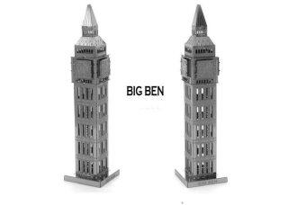 Harga Big Ben 3D Metal Model Metallic Nano Laser Cut Building PuzzleEducational DIY Assembling Toy(SILVER)
