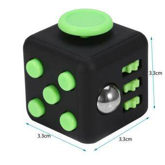 Harga (black)CY 5 Colors 6Sides Stress Anxiety Boredom Relieve Cube