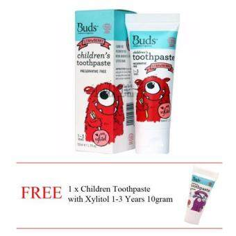 Harga Buds Oralcare Children's Toothpaste (1-3years old) - Strawberry50gm Free 10gm