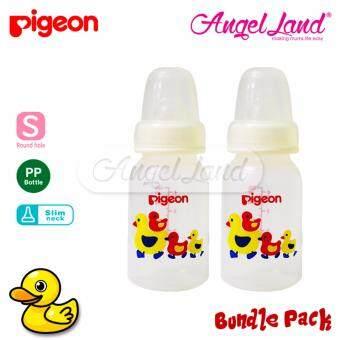 [Bundle Packs] Pigeon PP Bottle S Slim Neck 120ml Single Pack (Duck) 01888 x2
