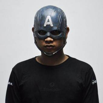 Harga Captain America Masks Movie Cosplay Costume Props HalloweenSuperhero Latex Mask DC Collectible Toys