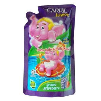Harga Carrie Junior Baby Hair & Body Wash refill pack - GroovyGrapeberry (500g)