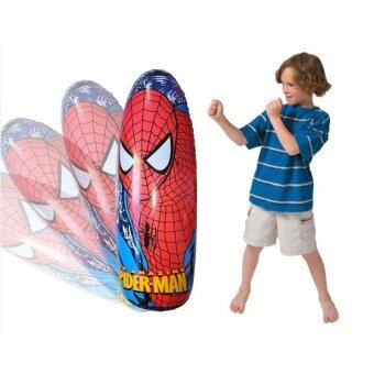 Cartoon Kids Spider men Toy Inflatable Tumbler For Girl BoyInflatable Bop Bag Roly Tumbler Inflatable Boxing Stand UpPunching(Spider man)