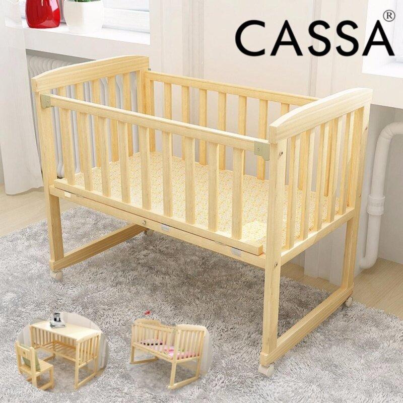 Buy Casa Cradle Baby Cot Wooden Rocking (Natural) Malaysia