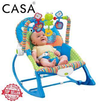Casa Ibaby Baby Infant-To-Toddler Rocker, Green with Blue
