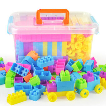 Harga Children assembled building blocks puzzle force toys 3-6 year old 4years old 5 men girls 7-8-10 girl child male children