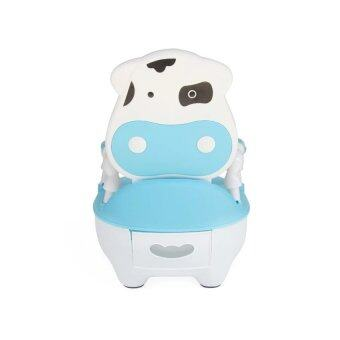 Children Baby Potty Training Cow potty - Blue White