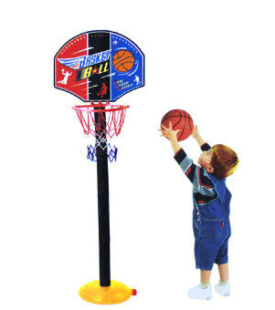 Children's basketball rack baby can lift shooting basket rack basketball box home Snnei outdoor sports toys mixed batch