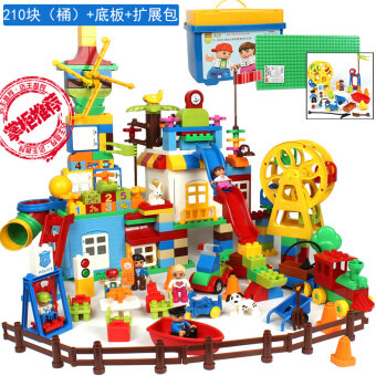 Children's Educational kindergarten large particles building blocksbig blocks plastic educational fight inserted baby early childhoodassembled toys Variety