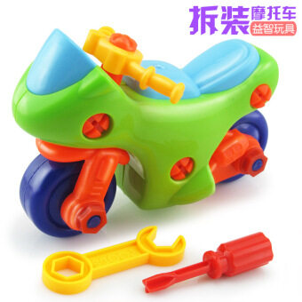 Harga Children's Educational removable toy boy can be disassemblyassembly toys motorcycle car baby screw hands-on disassembly car