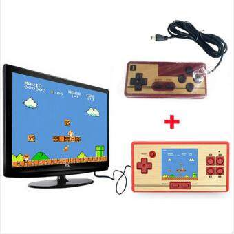 "Harga ""Classic Retro Handheld Game Console children's video game player600 Games+128 games in Card 2nd Player Controller for FC pocket"""