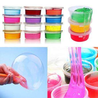 Harga Clay Slime DIY Crystal Mud Play Transparent Magic Plasticine KidToy