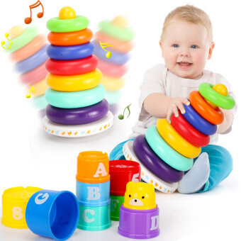Harga Colorful of cup tower toys of music