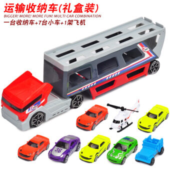 Container Freight Truck sliding large truck car models toys